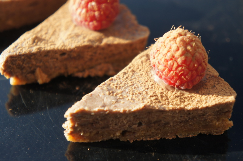 Canape size Belgian cheesecake