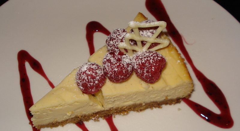 Madagascan vanilla cheesecake