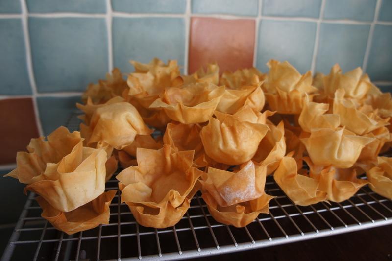 Filo pastry cases