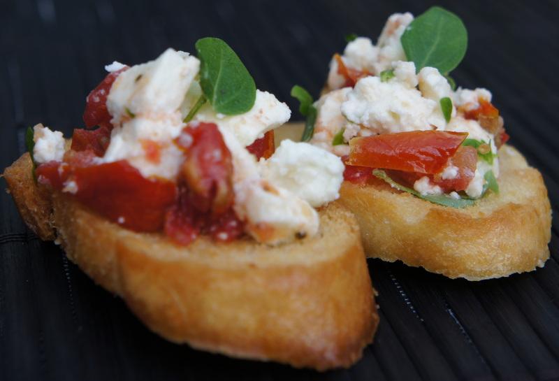 Fetta Sunblush Tomato And Fresh Oregano Bruschetta