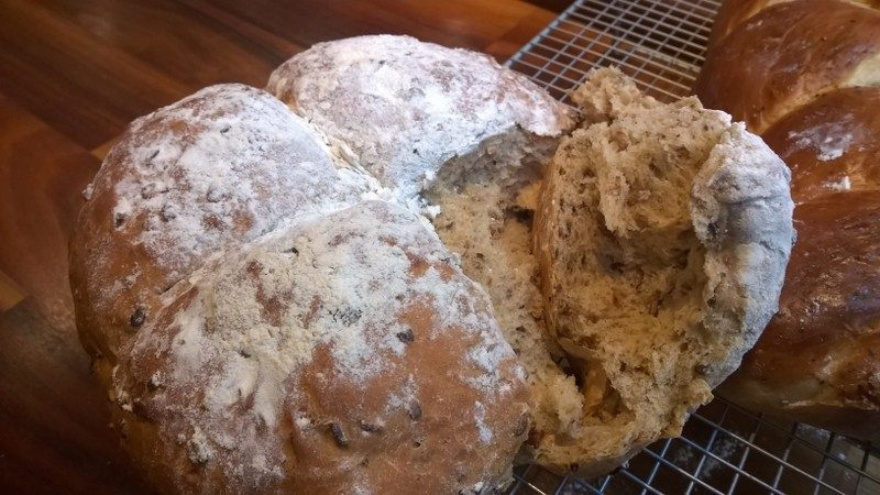 I love making bread, here is a multiseeded loaf